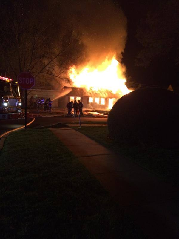 Early Morning Fire Tears Through Levittown Home