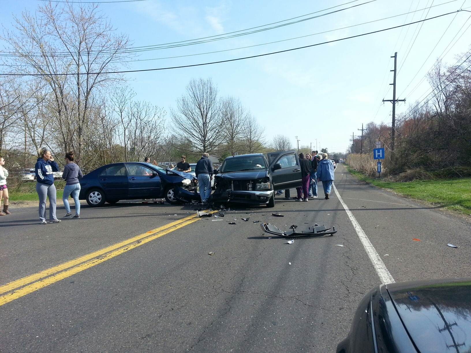 Non-Life-Threatening Injuries in Trenton Road Crash