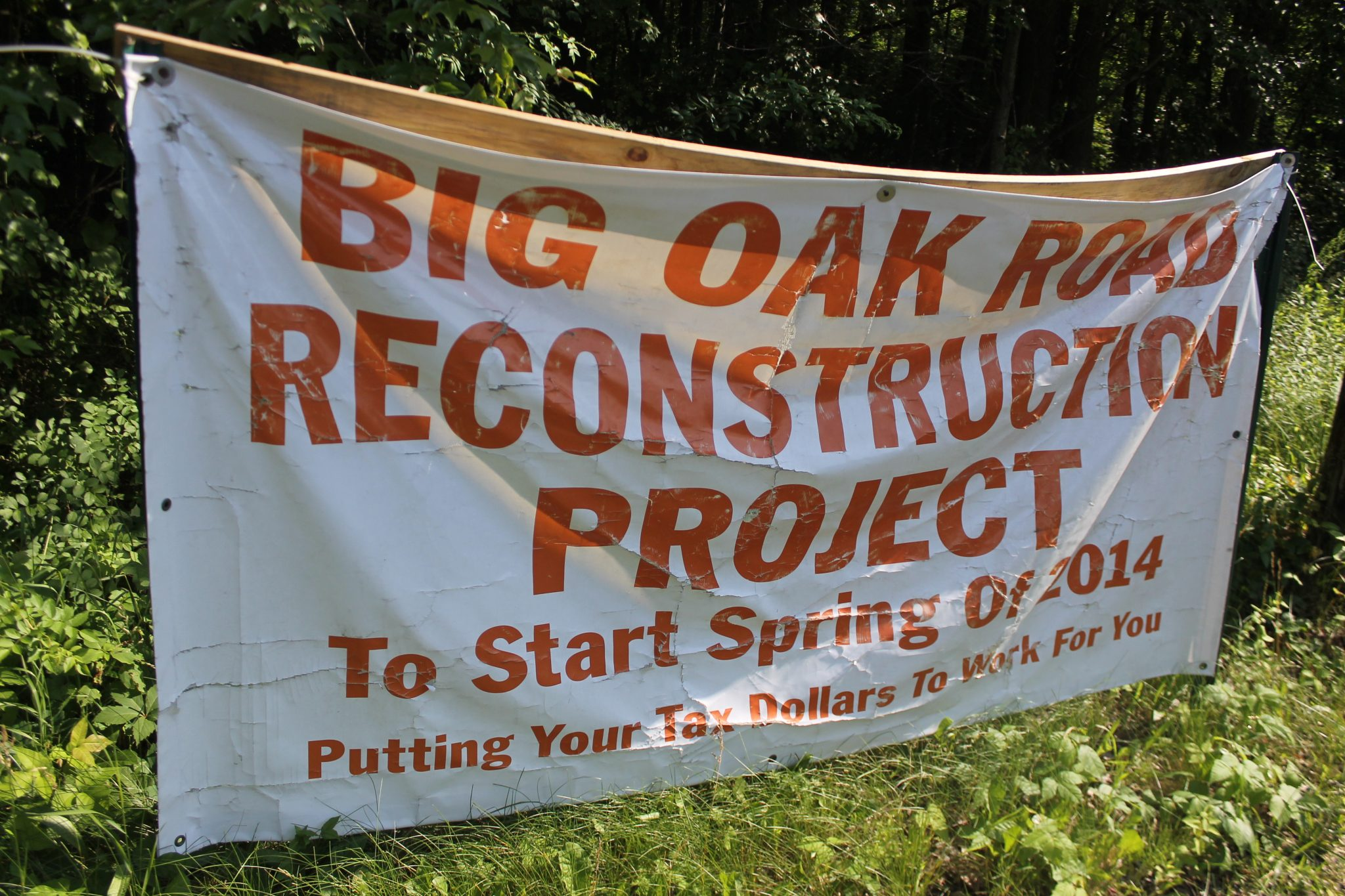 Work on Big Oak Road Progressing