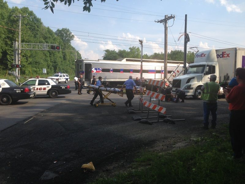 West Trenton Line Train Hits Car
