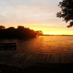 See an Incredible Sunset Over Manor Lake