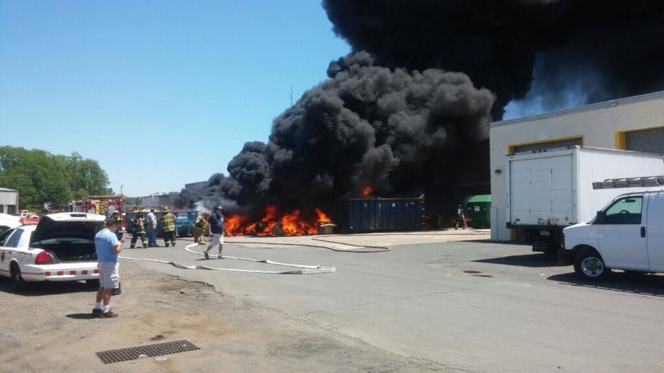 Rubbish Fire Causes Huge Smoke Plume