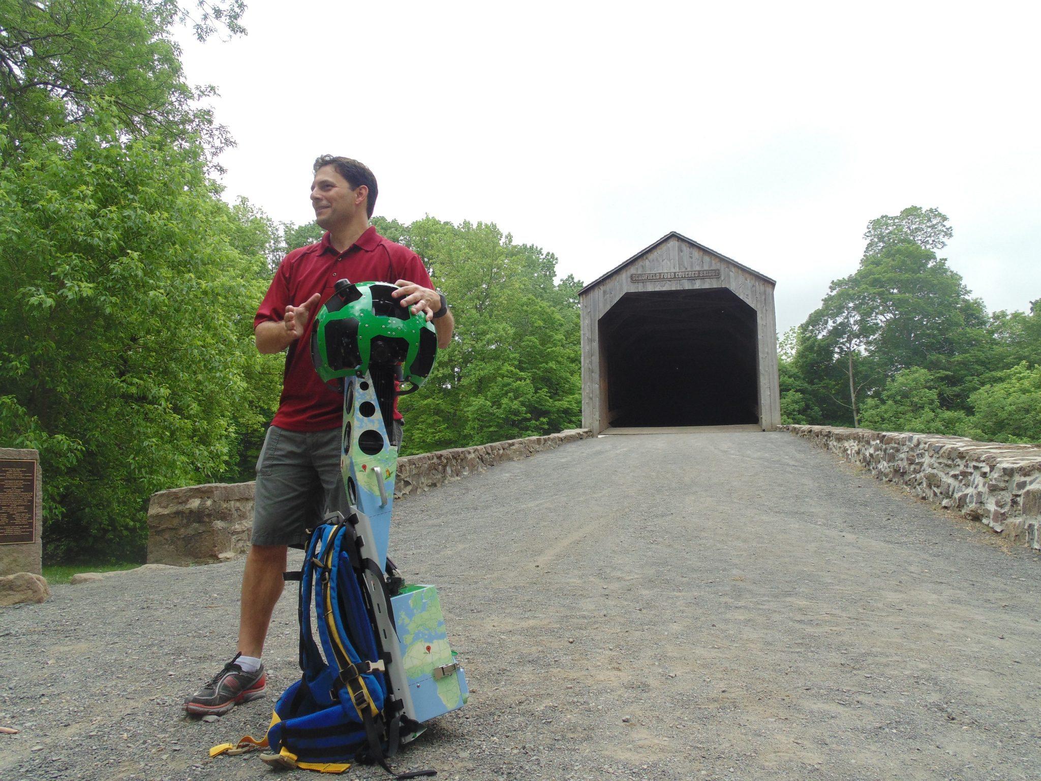 Google Street View Trekker Used To Capture Virtual Images Of Bucks County