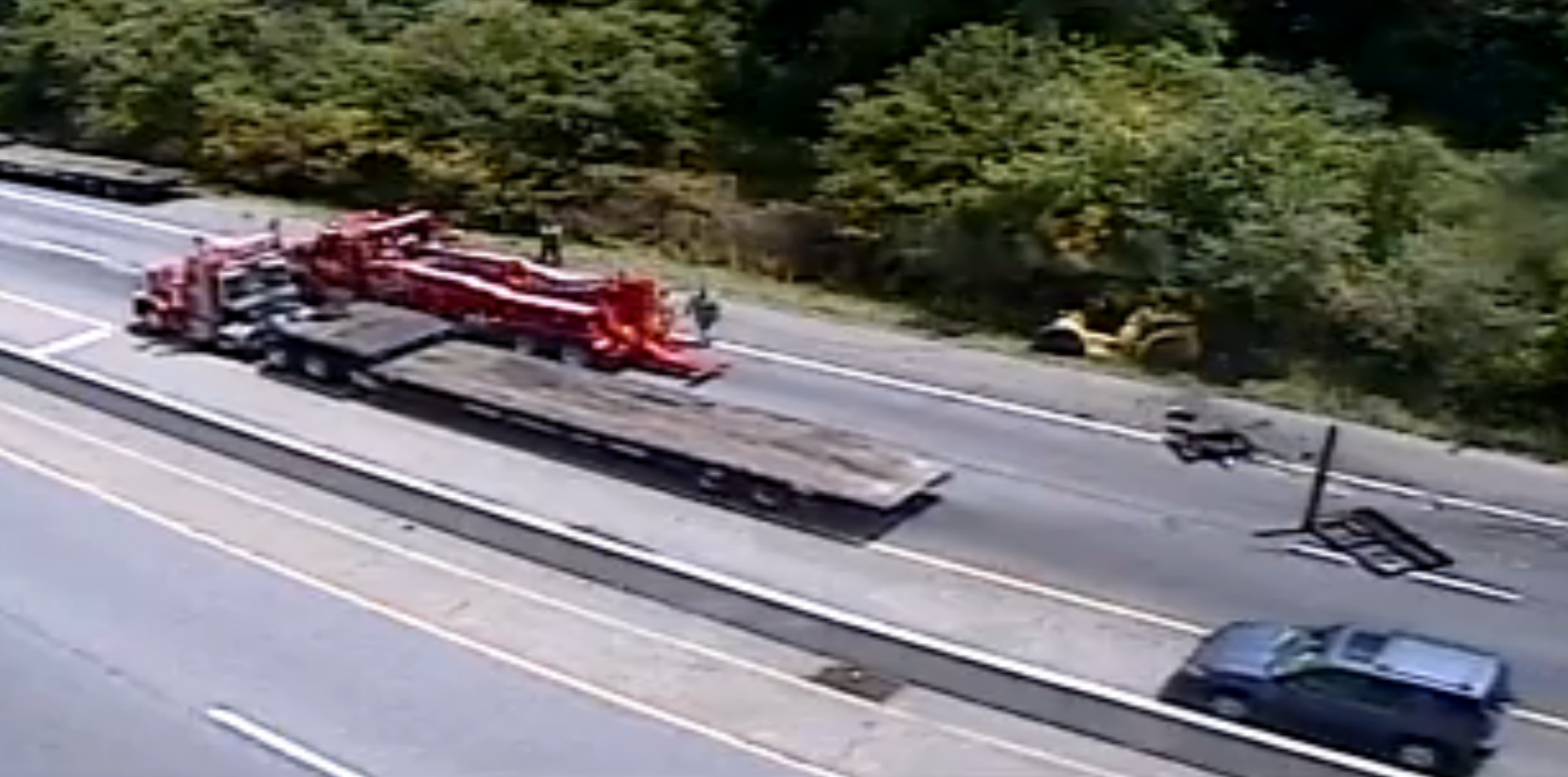 Truck Loses Cargo On Highway
