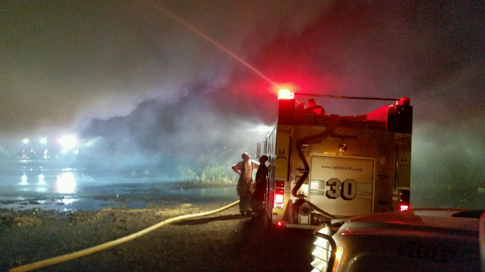 Firefighters Spend Hours Battling Large Mulch Fire