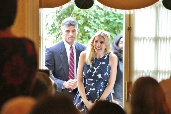 Ivanka Trump greeting the crowd. Credit: Tom Sofield/LevittownNow.com