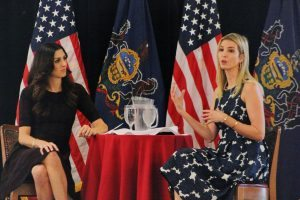 Ivanka Trump (right) answers a question from the audience. Credit: Tom Sofield/LevittownNow.com